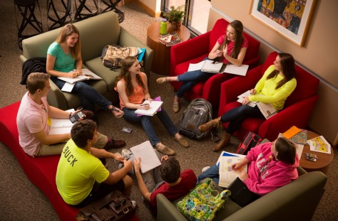 The CSO is a great place to study and do group work — the atmosphere is friendly and inviting and they always have candy!