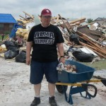 Tom Ealey and his wife Jean did demolition and relief work in Moore, Oklahoma in the neighborhood...