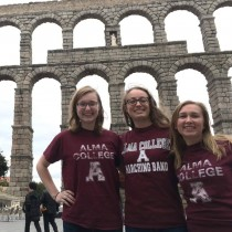 Laura Slavsky, far left, in Segovia, Spain.