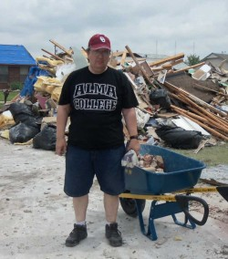 Tom Ealey and his wife Jean did demolition and relief work in Moore, Oklahoma in the neighborhood of the Plaza Towers Elem...