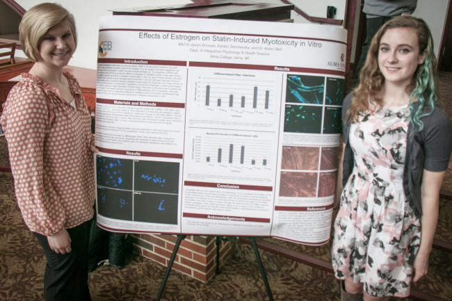 Alma students present their research at Honors Day.