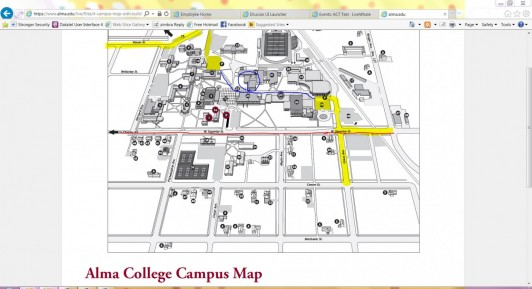 alma college campus map Act Test Provost S Office Alma College alma college campus map