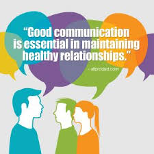 Quote saying good communication is essential to healthy relationships