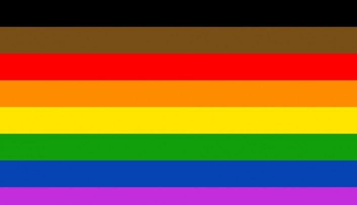 In 2017, Philadelphia adopted a revised flag with a brown and black stripe.