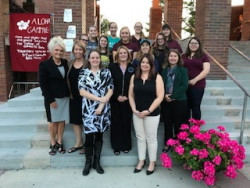 The students from EDC 255, Transition Management in Special Education, their professor Dr. Peggy Yates, Gratiot ...