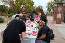 Students, faculty and staff enjoyed painting rocks together.