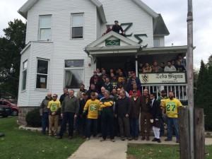Zeta Sigma house at Homecoming 2015