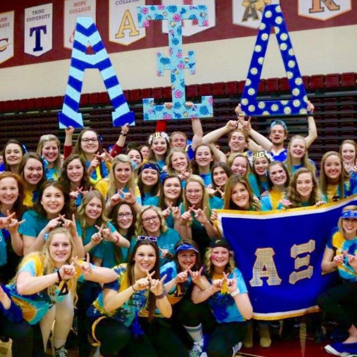 Sisters of Alpha Xi Delta at walkout 2016