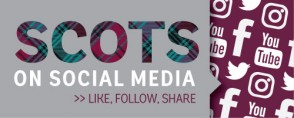 Scots on social media graphic — head on over to our social media hub to see all our social interactions!