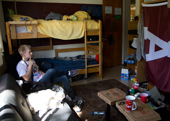 Mitchell is a co-ed traditional dorm with bunk beds.