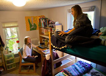 Students living in the Service Learning House are committed to performing community service activities.