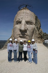 Performing Advocacy (with Dr. Joanne Gilbert, center) students performed their spring term production at Crazy Horse Memorial in South Dakota