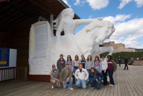 "Performing Advocacy students (with Dr. Joanne Gilbert) performed their spring term production ""Never Forget Your Dreams"" at Crazy Horse Memorial in South Dakota"