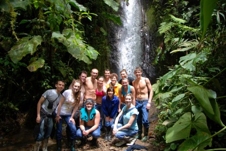 Intercultural Communication students during their spring term in Ecuador