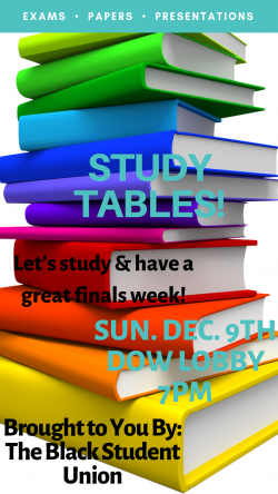 BSU: Study Tables!