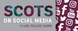 Scots on social media graphic — head on over to our social media hub to see all our social inte...