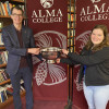 Alma College senior Maighdlin (Maggie) Patterson, the 2021 recipient of the Barlow Trophy, is pic...