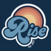 The logo for the Alma College new media studies senior showcase event, ?Rise,? is pictured.