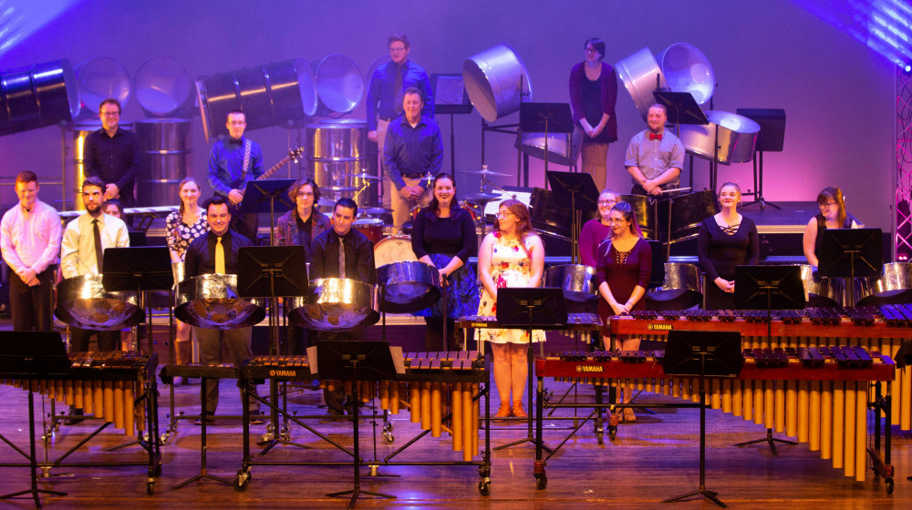 The Alma College Percussion Ensemble