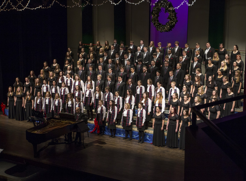 The Alma College Choirs perform in the Festival of Carols.