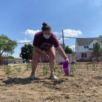 Students Plant Community Garden at Former Middle School Site
