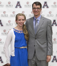 Kylie Babcock, with President Jeff Abernathy