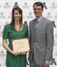 Hilary Miller, with President Abernathy