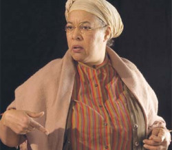 Actress Kathryn Woods as Sojourner Truth.