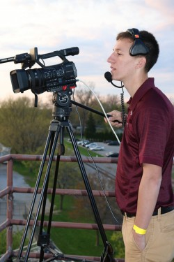 Students livestream Alma Athletic events at AlmaScots.com.