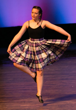 Alma College Kiltie dancer.
