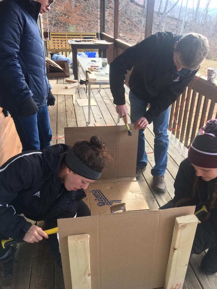 Volunteering with Habitat for Humanity is one of the service experiences available to Alma College students during the hol...