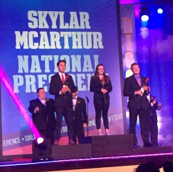 Skylar McArthur, president of the National BPA Post-Secondary Division Executive Committee.