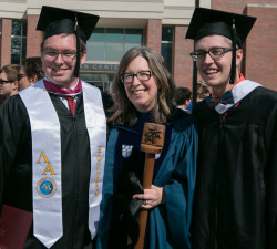 Professor Kate Blanchard with recent grads.