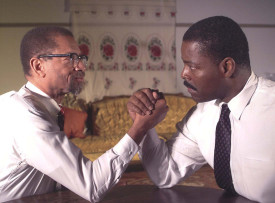 """The Meeting"" portrays Malcolm X and Martin Luther King Jr."