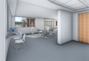 Interior rendering, Newberry Hall.
