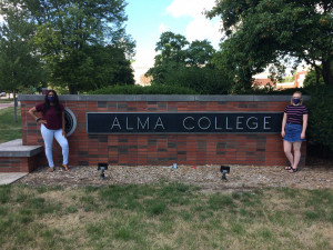 From left, Kysia Jones and Erin McCreedy pose for a picture at Alma College. The two will live at...