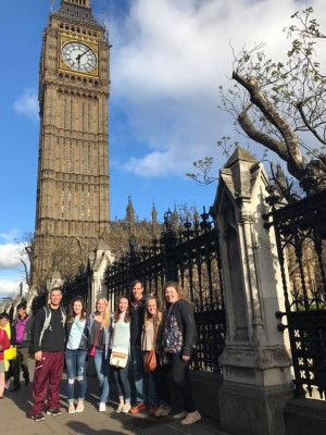 Alma students in London.