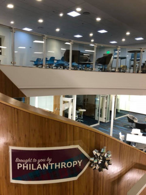 Philanthropy at work: The new Dow Digital Science Center.