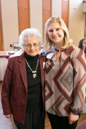 <em>Endowed scholarship donor Patricia Daily with student recipient Ashten Stambersky '18.</em>