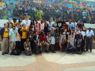 The Student Freedom Riders at the King Center in Atlanta, Ga.