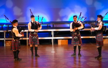 Alma College pipers