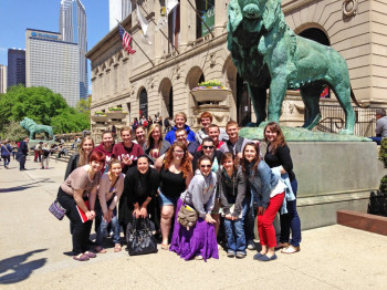 Spring Term students visit Chicago.