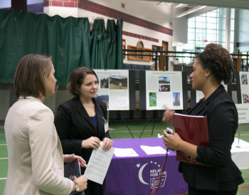<em>Ambassadors have created internships and participated in career assistance activities, such as the Career Explo.</em>