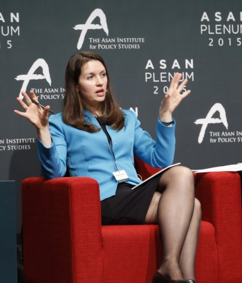 <em>Kobzar speaks on a panel of policy experts at the 2015 Asan Plenum, a conference of leading think tanks to discuss the pressing challenges facing the world. The conference was held in Seoul, South Korea.</em><br>
