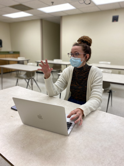 Alma College junior Abbey Killian, a biology major from Traverse City, is studying genetics and t...
