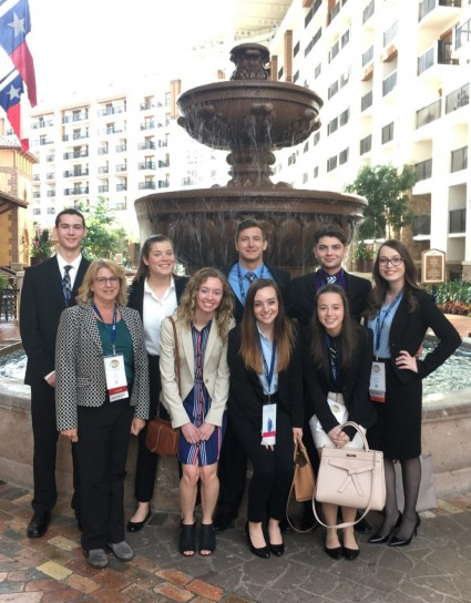 Alma College's BPA Chapter in Dallas.