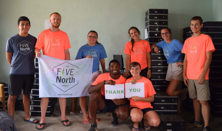 Five North Project students in Ghana.