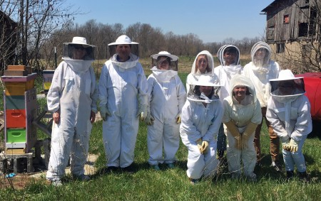 As part of the Spring Term course, students visited apiaries and studied bee biology, hive care and the risks and benefits of beekeeping.