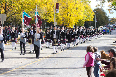 The homecoming parade begins at 11 a.m.