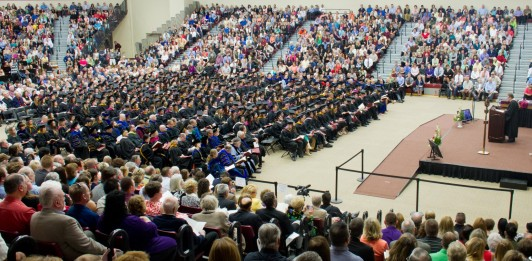 Alma College Commencement ceremony in Hogan.